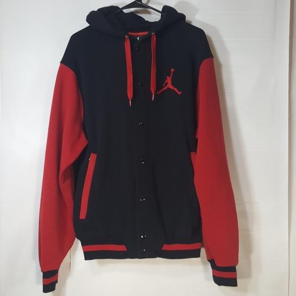 4fd5fe99635bc2 Jordans Varsity Button Up Hoodie Men s L